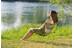 Coleman Kickback Breeze Camping zitmeubel geel/grijs